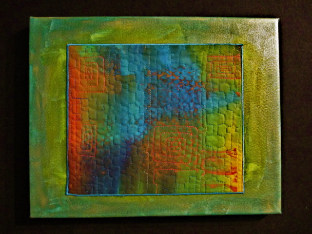 Green, Blue, Orange Art Canvas